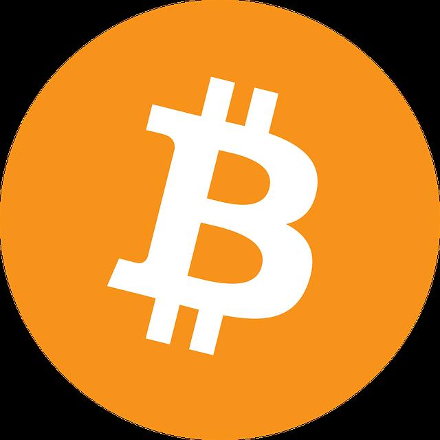 Das Symbol für Bitcoin