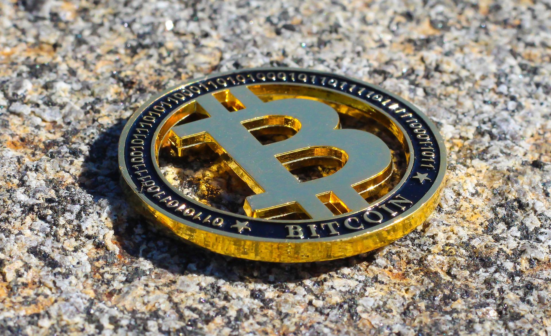 Bitcoin auf Stein
